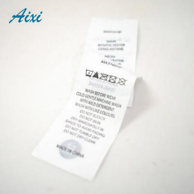 Custom Silk Clothing Labels Washing Care Label Woven Satin Label For Clothes