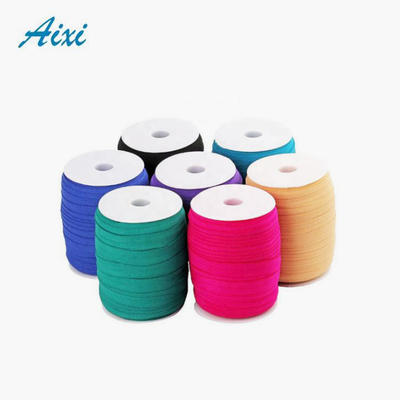 Wide double fold over piping tape elastic binding tape bias tape for garment